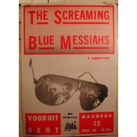 The Screaming Blue Messiahs - AFFICHE MUSIQUE / CONCERT / POSTER