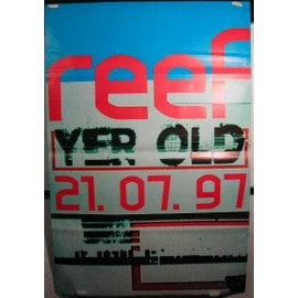 Reef Yer Old - AFFICHE MUSIQUE / CONCERT / POSTER