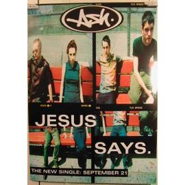 Ash - Jesus Says - AFFICHE MUSIQUE / CONCERT / POSTER