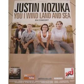Justin NOZUKA - AFFICHE MUSIQUE / CONCERT / POSTER