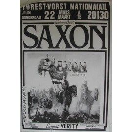 Saxon - AFFICHE MUSIQUE / CONCERT / POSTER