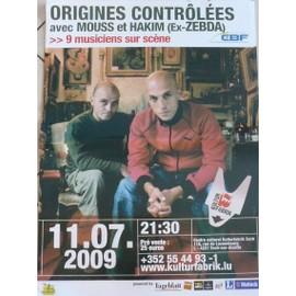 Origines Contrôlées - AFFICHE MUSIQUE / CONCERT / POSTER