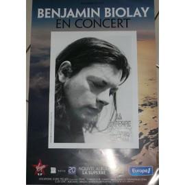 Benjamin BIOLAY - AFFICHE MUSIQUE / CONCERT / POSTER