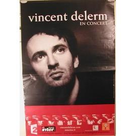 Delerm Vincent - AFFICHE MUSIQUE / CONCERT / POSTER