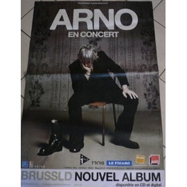 ARNO - BRUSSLD - AFFICHE MUSIQUE / CONCERT / POSTER