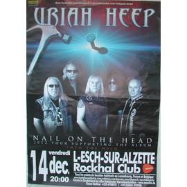 Uriah Heep - AFFICHE MUSIQUE / CONCERT / POSTER