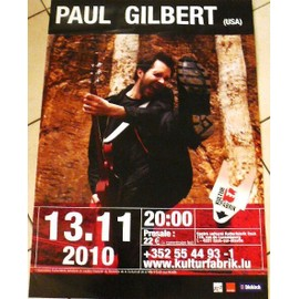 Paul Gilbert - Mr Big - AFFICHE MUSIQUE / CONCERT / POSTER