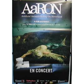 AARON - AFFICHE MUSIQUE / CONCERT / POSTER
