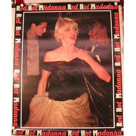 Madonna - Red Hot - AFFICHE MUSIQUE / CONCERT / POSTER