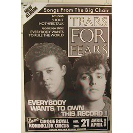 Tears For Fears - AFFICHE MUSIQUE / CONCERT / POSTER