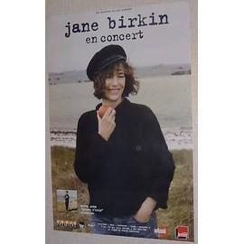 Jane BIRKIN - AFFICHE MUSIQUE / CONCERT / POSTER