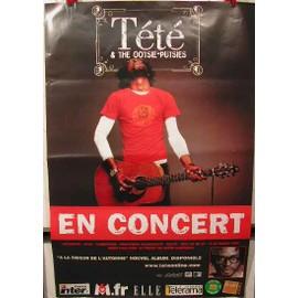 TETE - AFFICHE MUSIQUE / CONCERT / POSTER