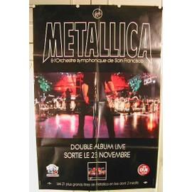 Metallica - affiche pliée - S&M - AFFICHE MUSIQUE / CONCERT / POSTER