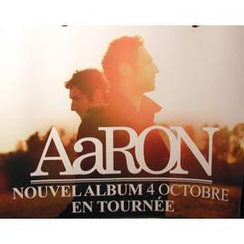 AARON - Sur Papier Epais - AFFICHE MUSIQUE / CONCERT / POSTER