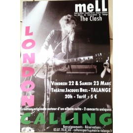 meLL - The CLASH - London Calling - AFFICHE MUSIQUE / CONCERT / POSTER