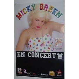 Micky GREEN - AFFICHE MUSIQUE / CONCERT / POSTER