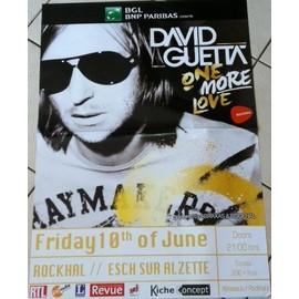 David Guetta - AFFICHE MUSIQUE / CONCERT / POSTER