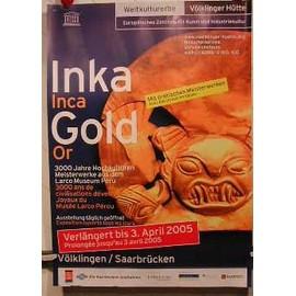Inca Gold - AFFICHE MUSIQUE / CONCERT / POSTER