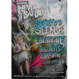 Never Say Die Tour 2011 - Suicide Silence - AFFICHE MUSIQUE / CONCERT / POSTER