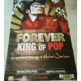 Michael JACKSON - Forever King of Pop - AFFICHE MUSIQUE / CONCERT / POSTER