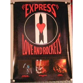 Love and Rockets - express - AFFICHE MUSIQUE / CONCERT / POSTER