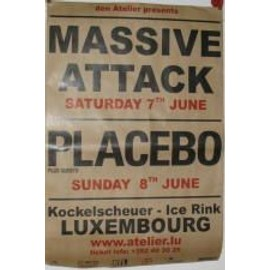 Placebo - Massive Attack - AFFICHE MUSIQUE / CONCERT / POSTER