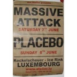 Placebo - Massive Attack - AFFICHE MUSIQUE / CONCERT / POSTER
