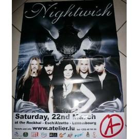 NIGHTWISH - AFFICHE MUSIQUE / CONCERT / POSTER