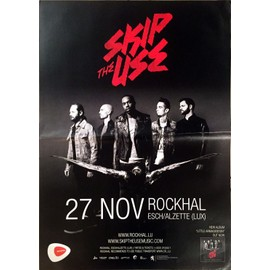 Skip The Use - Tour 2014 - AFFICHE MUSIQUE / CONCERT / POSTER