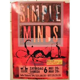 Simple Minds - Dechirée 2 cm - AFFICHE MUSIQUE / CONCERT / POSTER