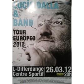 Lucio DALLA & band - AFFICHE MUSIQUE / CONCERT / POSTER