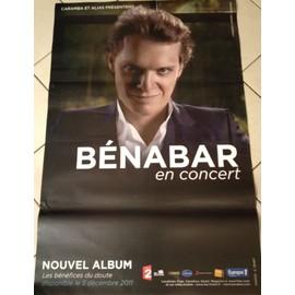 Bénabar - En Concert 2012 - AFFICHE MUSIQUE / CONCERT / POSTER