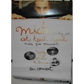 Mickey 3D - Mick seul - AFFICHE MUSIQUE / CONCERT / POSTER