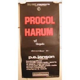 Procol Harum - AFFICHE MUSIQUE / CONCERT / POSTER