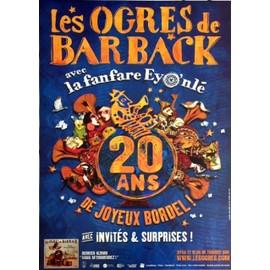 Les Ogres Barback - 20 ans de Joyeux Bordel! - AFFICHE MUSIQUE / CONCERT / POSTER
