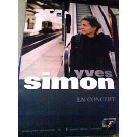 Yves SIMON - AFFICHE MUSIQUE / CONCERT / POSTER
