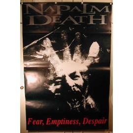 Napalm Death - Fear, Emptiness, Despair - AFFICHE MUSIQUE / CONCERT / POSTER