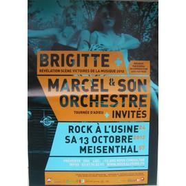 Brigitte  - AFFICHE MUSIQUE / CONCERT / POSTER