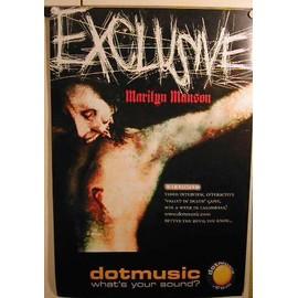 Manson Marilyn - Exclusive - AFFICHE MUSIQUE / CONCERT / POSTER