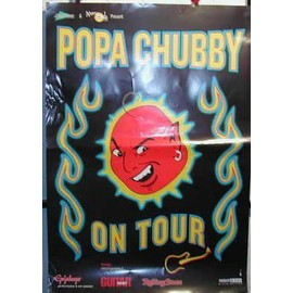 Popa Chubby - On Tour 2006 - AFFICHE MUSIQUE / CONCERT / POSTER