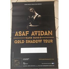 Asaf Avidan - Gold Shadow Tour - AFFICHE MUSIQUE / CONCERT / POSTER