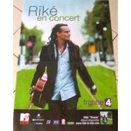 Riké - AFFICHE MUSIQUE / CONCERT / POSTER