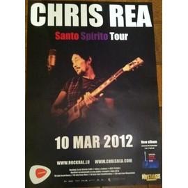 Chris REA - SANTO SPIRTO Tour 2012 - AFFICHE MUSIQUE / CONCERT / POSTER