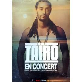 TAïRO - AFFICHE MUSIQUE / CONCERT / POSTER