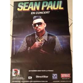 Sean Paul - En Concert - AFFICHE MUSIQUE / CONCERT / POSTER