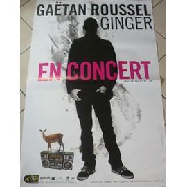 GAETAN ROUSSEL - AFFICHE MUSIQUE / CONCERT / POSTER