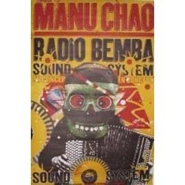 Manu chao - Masque - AFFICHE MUSIQUE / CONCERT / POSTER