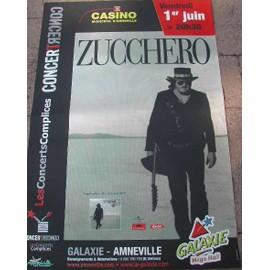 ZUCCHERO - 2007 - AFFICHE MUSIQUE / CONCERT / POSTER