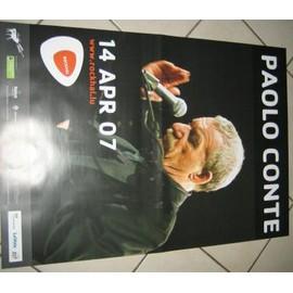 Paolo CONTE - Tour 2007 - AFFICHE MUSIQUE / CONCERT / POSTER