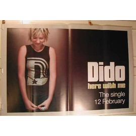 Dido - Here with me - AFFICHE MUSIQUE / CONCERT / POSTER
